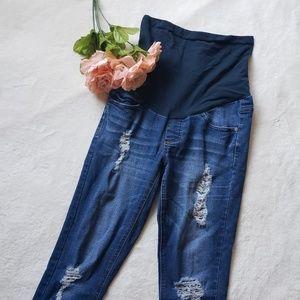 Indigo Rein Maternity skinny distressed jeans AA